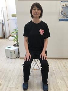 ストレッチ 椅子